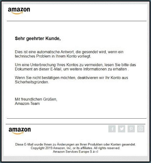2019-11-26 Amazon Fake-Mail mit Virus im Anhang