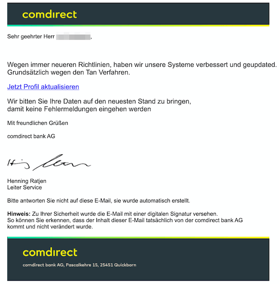 2019-11-27 Phishing Comdirect