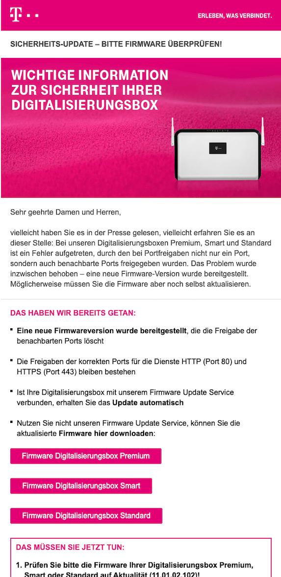 2019-11-27 Telekom Entwarnung