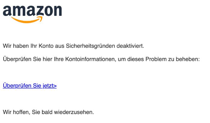 2019-11-30 Amazon Spam-Mail Bitte verifizieren sie ihr Konto