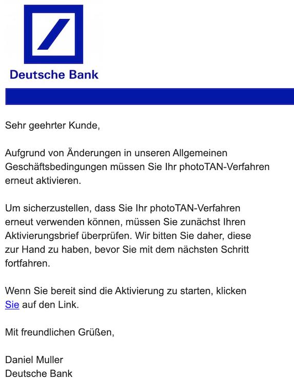 2019-12-19 Phishing Deutsche Bank