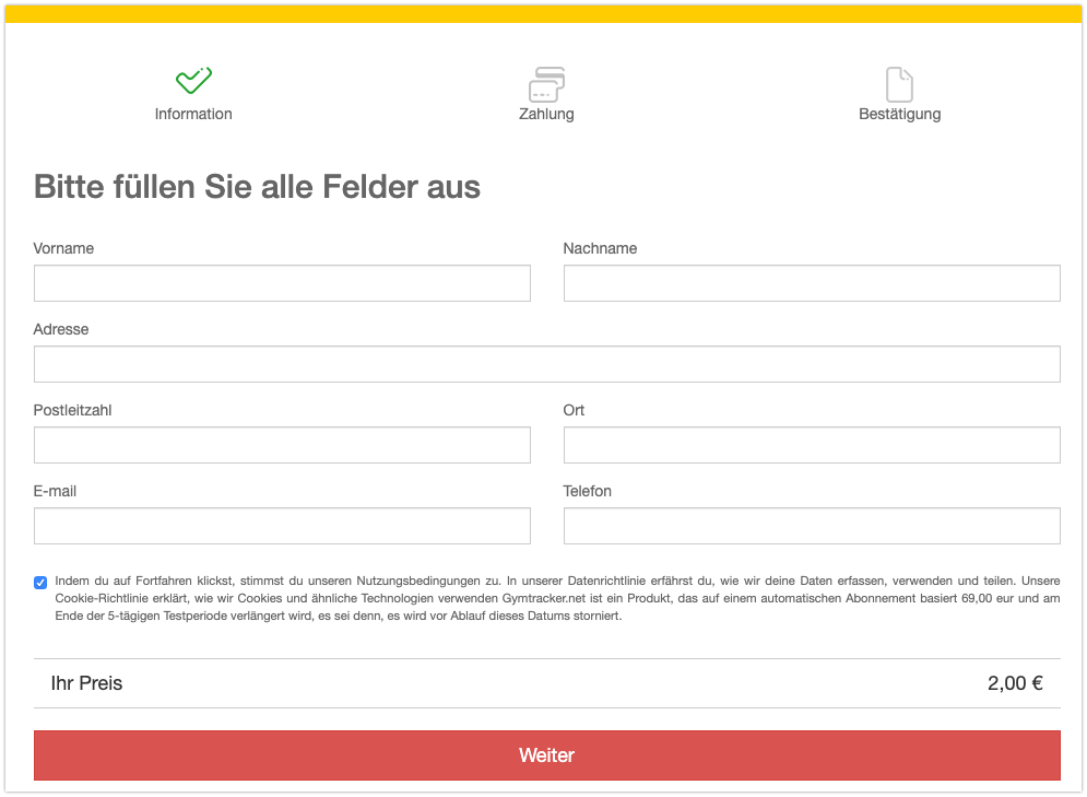 DHL SMS Abofalle Webseite
