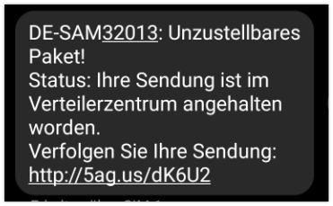 DHL SMS Abofalle