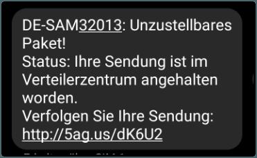 DHL SMS Abofalle