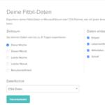 Fitbit Daten herunterladen 2