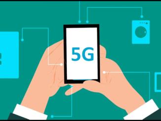 Mobilfunk Handy Smartphone 5G Symbolbil