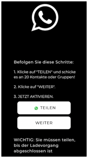 WhatsApp Dark-Modus teilen