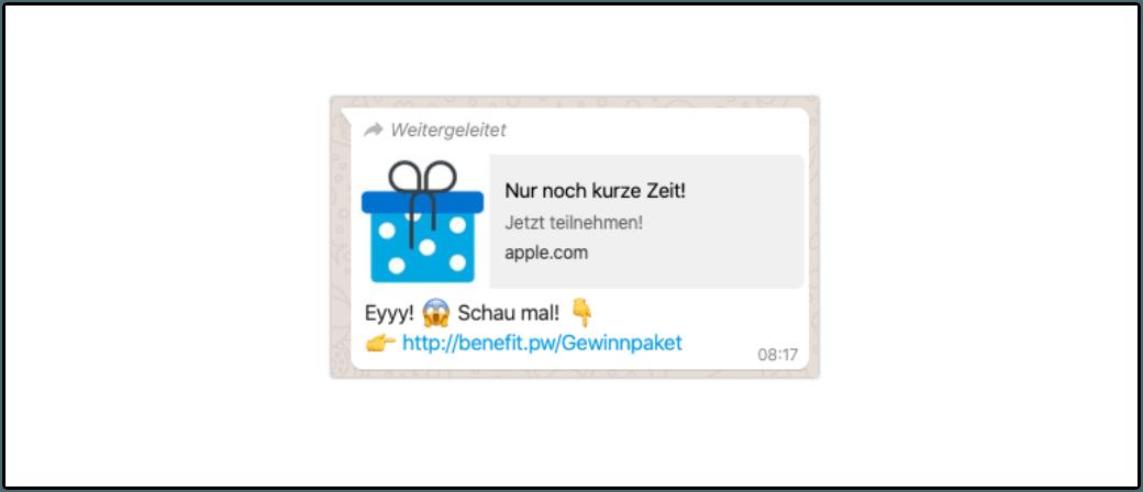 WhatsApp Kettenbrief Eyyy schau mal