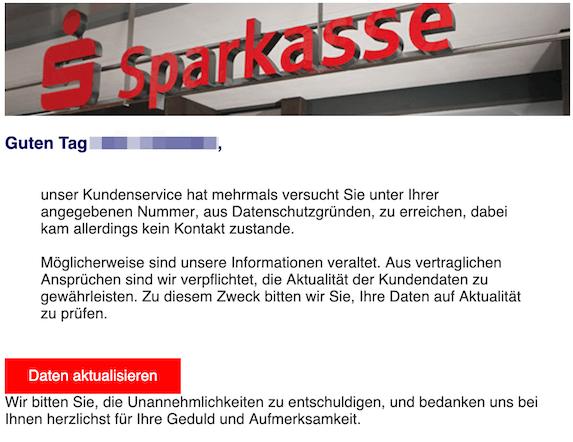 2019-12-04 Phishing Sparkasse
