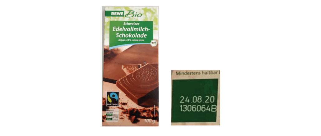 Rewe Rückruf Schokolade