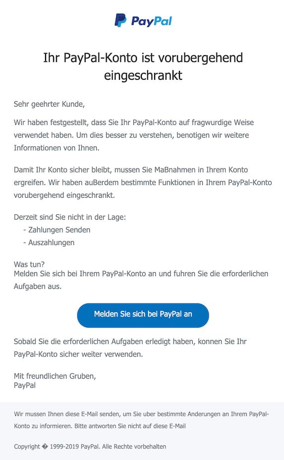2019-12-06 Phishing PayPal