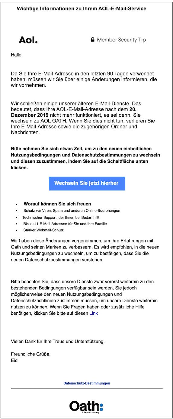 2019-12-13 Phishing AOL