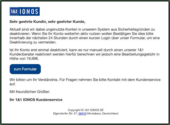2019-12-20 1und1 IONOS Spam-Mail Deaktivierung Ihres 1und1 IONOS Kontos