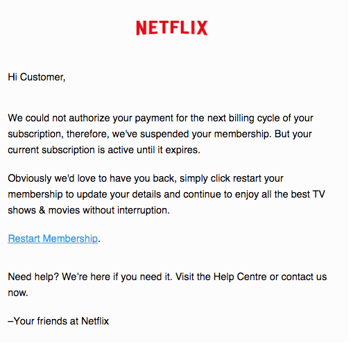 2019-12-29 Netflix Spam-Mail Revision Manage