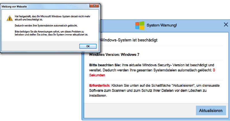 2019-12-31 Microsoft Fake-Viruswarnung System Warnung
