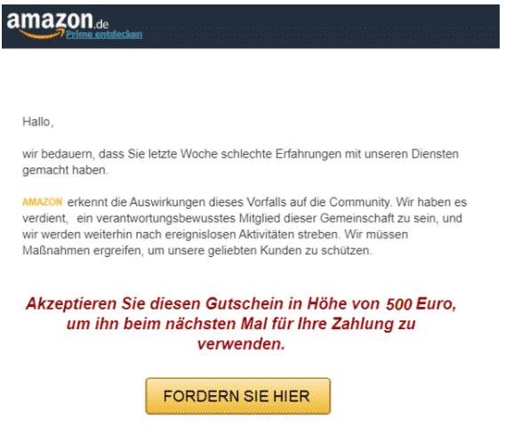 2020-01-01 Amazon Spam-Mail Wi͏r ͏s͏c͏h͏u͏l͏d͏e͏n ͏i͏h͏n͏e͏n ͏e͏i͏n͏e ͏En͏t͏s͏c͏h͏u͏l͏d͏i͏g͏u͏n͏g