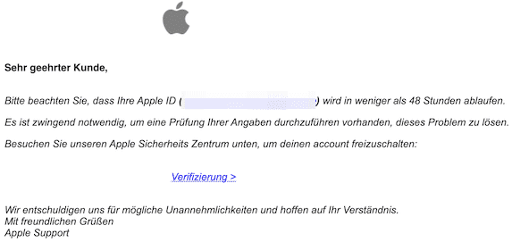 2020-01-03 Phishing Apple