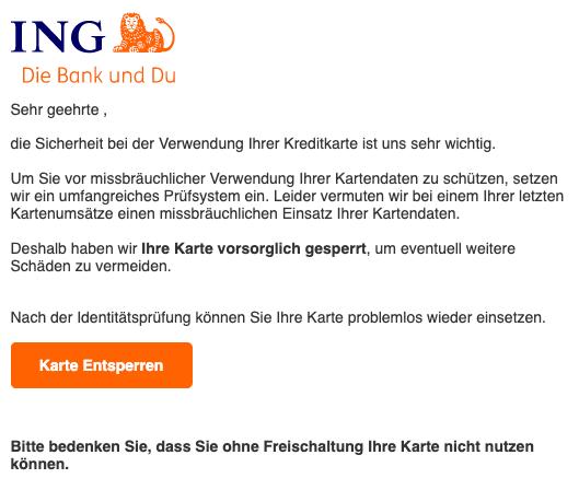 2020-01-16 ING Phishing Spam Mail Bestaetigung des Kontos