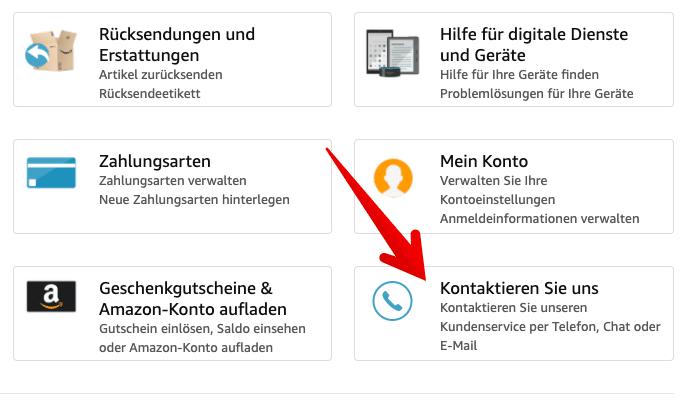 Amazon Kontaktieren Telefonisch