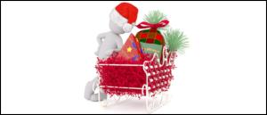 Symbolbild Weihnachten, Weihnachtsschlitten, Weihnachtspost