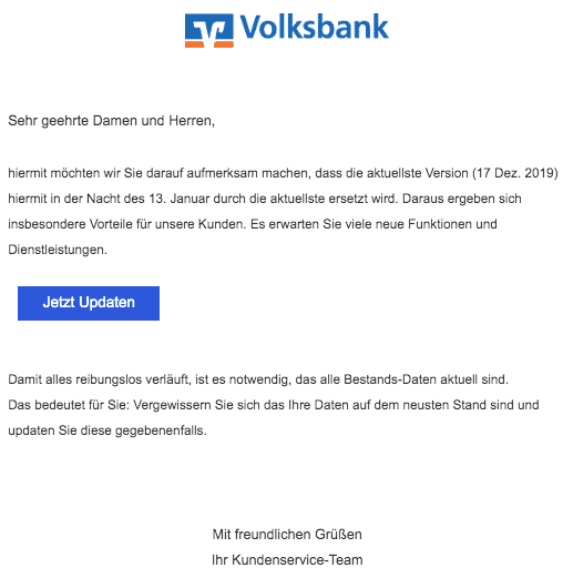 2020-01-12 Volksbank Fake-Mail Updates