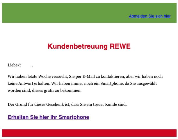 2020-01-17 REWE E-Mail Spam Smartphone gewinnen