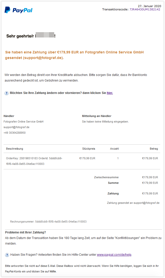 2020-01-27 PayPal Fotografen Online Service GmbH
