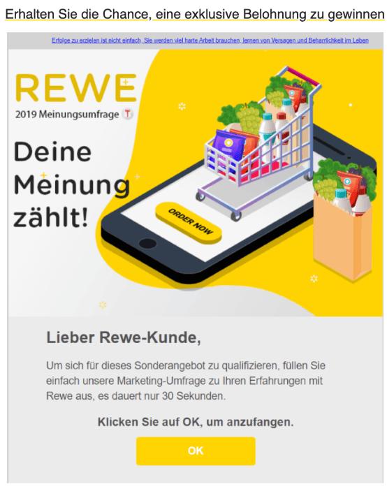 2020-01-31 REWE Spam-Mail sie wurden für eine exklusive Belohnung ausgewaehlt