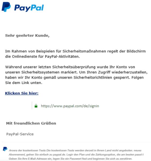 2020-02-02 Phishing PayPal