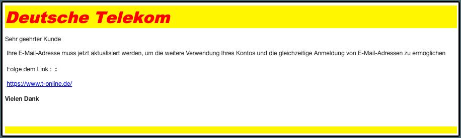 Phishing Telekom