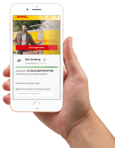 DHL Sendungsverfolgung Handy Smartphone