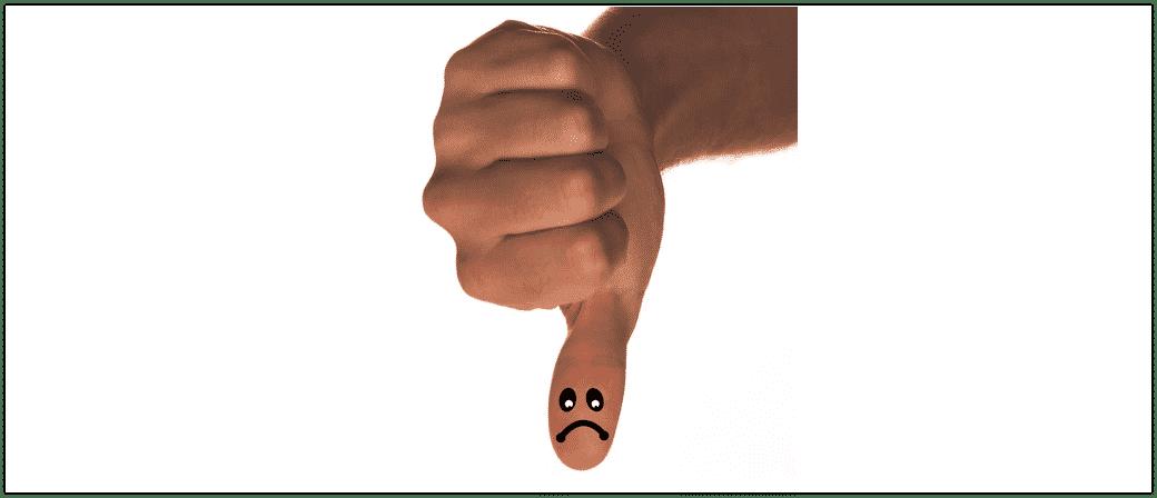 Daumen runter Symbolbild