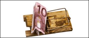 Symbolbild Falle Kostenfalle Mausefalle Vorschussbetrug
