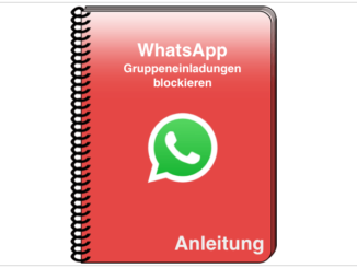 WhatsApp Gruppen Einladung blockieren Titel