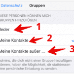 WhatsApp Gruppen Einladung blockieren