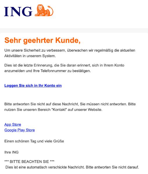2020-02-05 ING-Diba Spam-Mail Phishing