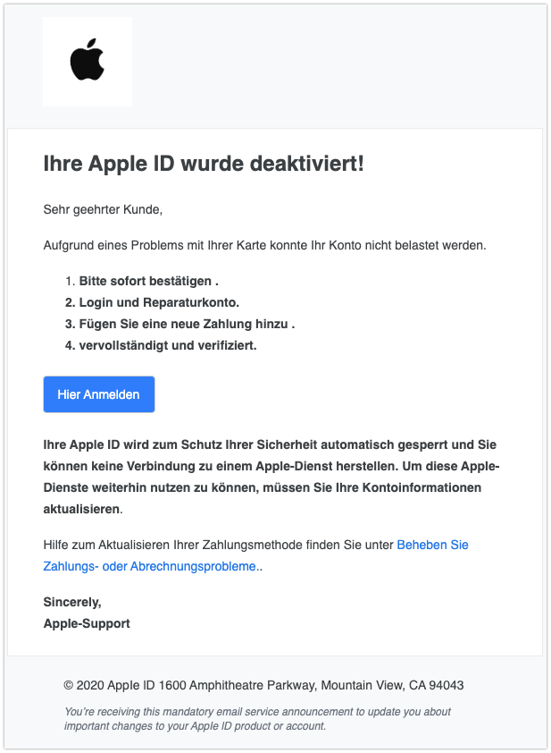 2020-02-05 Phishing Apple