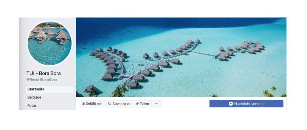 2020-02-09 Facebbok Fake-Seite TUI Bora Bora