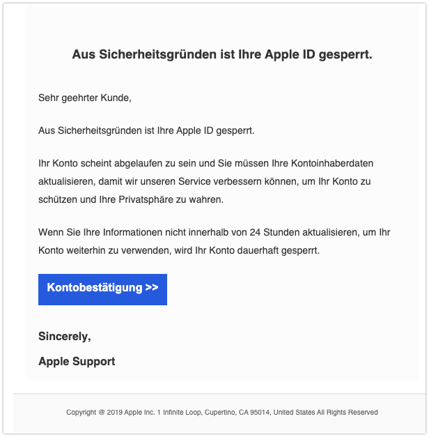2020-02-10 Phishing Apple