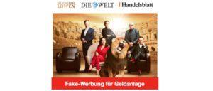 2020-02-19 Die Höhle der Löwe Fake-Werbung Bitcoin Geldanlage