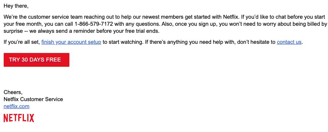 2020-02-24 Netflix E-Mail Netflix - 30 days free