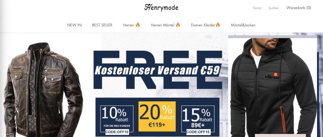 2020-02-24 henrymode-com Onlineshop Erfahrungen Bewertungen