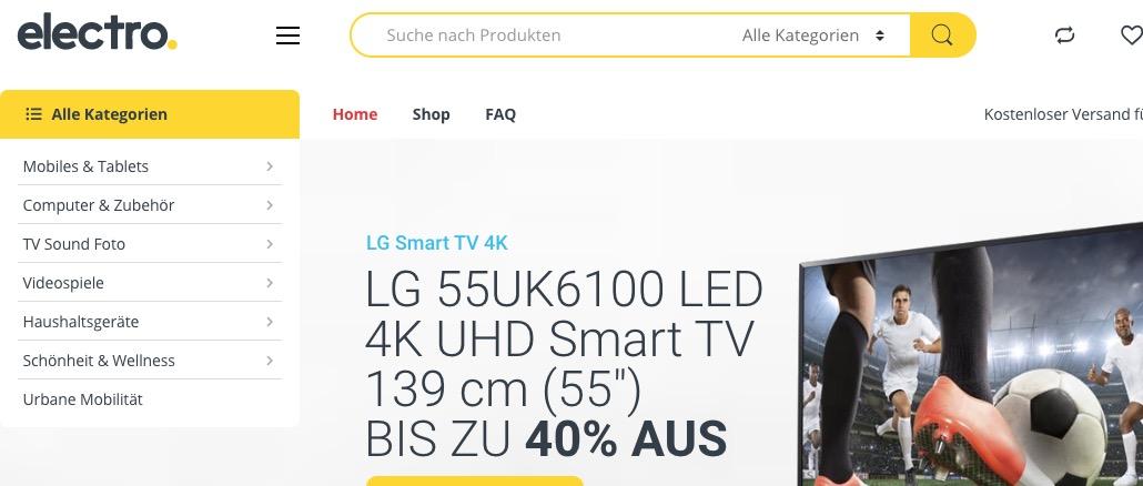2020-02-28 electroland-shopping-com Onlineshop Fakeshop Verdacht