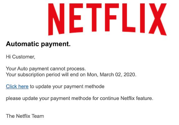2020-03-02 Netflix Phishing