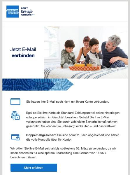 2020-03-05 American Express Spam Fake-Mail Keine News mehr verpassen