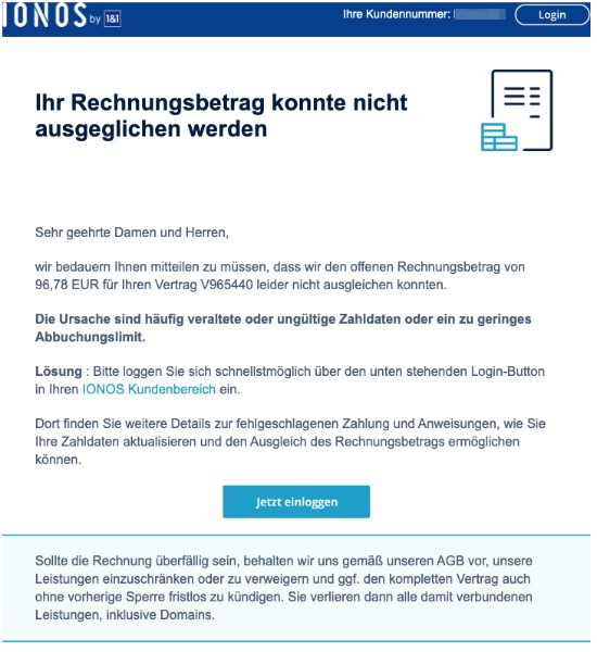 2020-03-05 IONOS Spam-Mail Phishing Mahnung