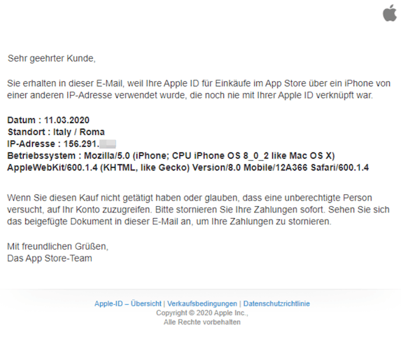 2020-03-12 Phishing Apple