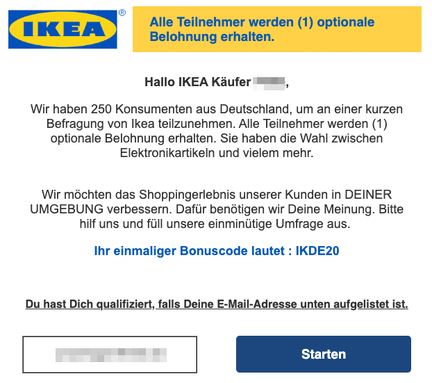 2020-03-13 IKEA Spam Fake-Mail Abofalle