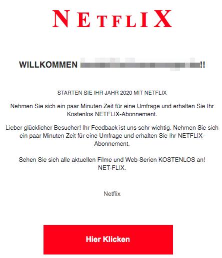2020-03-17 Netflix Spam-Mail Kostenloses Abo Abofalle