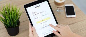 Amazon Login Anmeldung Symbolbild